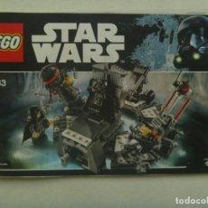 Juegos construcción - Lego: LEGO - STAR WARS : LIBRITO DE INSTRUCCIONES PARA LA CONSTRUCCION DE LA NAVE. Lote 151455878