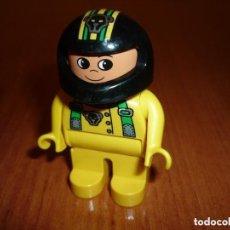 Juegos construcción - Lego: FIGURA LEGO DUPLO- MOTORISTA. Lote 152562718