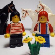 Jeux construction - Lego: LOTE FIGURAS LEGO - CABALLOS - MUJERES. Lote 153430534