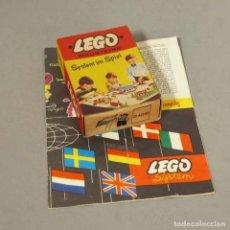 Juegos construcción - Lego: ULTRA RARO. LEGO SISTEMA. BANDERAS EN SU CAJA. 1958-1959. Lote 153587538