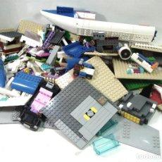 Juegos construcción - Lego: MEGA LOTE LEGO 4.5 KG-PIEZAS SUELTAS-PIEZA LOTE-JUEGO CONSTRUCCION-AVION FIGURAS CASA VENTANA COCHE. Lote 154848302