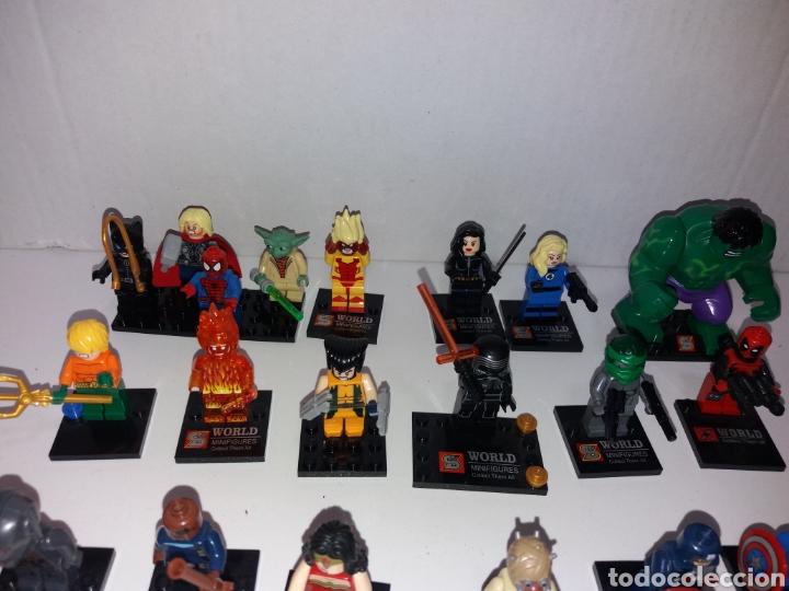 Juegos construcción - Lego: Lote 20 minifiguras World of warcraft compatibles lego - Foto 3 - 163542849