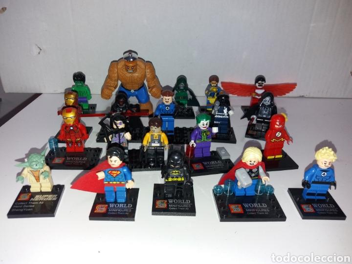 LOTE 20 MINIFIGURAS WORLD OF WARCRAFT COMPATIBLES CON LEGO (Juguetes - Construcción - Lego)