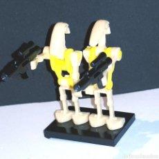Juegos construcción - Lego: (C-13) LOTE 2 FIGURAS COMPATIBLE LEGO - DROIDE - STAR WARS. Lote 164734597
