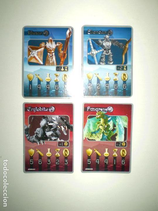 4 CARTAS MEGA BLOKS PLASMA DRAGON warhammer