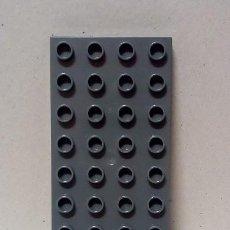 Juegos construcción - Lego: LEGO DUPLO - BASE PLANCHA COLOR GRIS 4 X 8. Lote 166960368