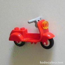 Juegos construcción - Lego: MOTO - ESTILO VESPA - LEGO - JUGUETE DE CONSTRUCCIÓN - ROJA - MOTITO - TRANSPORTE - MOTOCICLETA. Lote 167031760