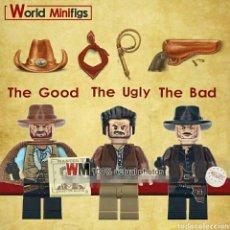 Juegos construcción - Lego: MINIFIGURAS COMPATIBLES SALVAJE OESTE EL BUENO,EL MALO Y EL FEO.NOVEDAD. Lote 195163361