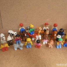 Juegos construcción - Lego: LEGO DUPLO -- LOTE DE FIGURAS - ANIMALES - MOTO . Lote 171251725