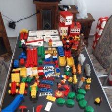 Juegos construcción - Lego: GRAN LOTE DUPLO VARIADO BOMBEROS ZOO CIRCO CASA MÁS DE 100 PIEZAS. Lote 171726753
