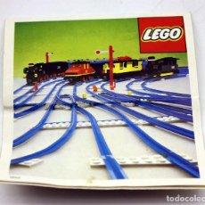 Juegos construcción - Lego: LEGO - ANTIGUO CATALOGO / INSTRUCCIONES MONTAJE VIAS TREN - 154, 156, 157, 159 - AÑOS 70. Lote 171783142