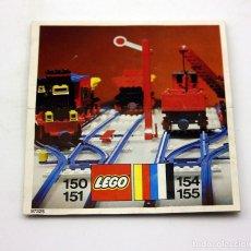 Juegos construcción - Lego: LEGO - ANTIGUO CATALOGO / INSTRUCCIONES MONTAJE VIAS TREN - 150, 151, 154, 155 - AÑO 1973. Lote 171783207