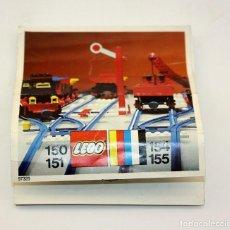 Juegos construcción - Lego: LEGO - ANTIGUO CATALOGO / INSTRUCCIONES MONTAJE VIAS TREN - 150, 151, 154, 155 - AÑO 1973. Lote 171783224