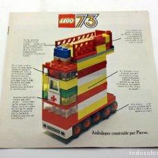 Juegos construcción - Lego: LEGO - ANTIGUO CATALOGO DEL AÑO 1973 - IMPECABLE - DUPLO, LEGOLAND, TREN, BARCOS.... Lote 171784270