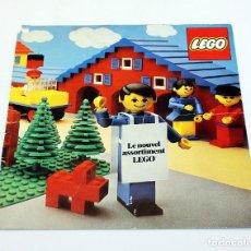 Juegos construcción - Lego: LEGO - ANTIGUO CATALOGO / DÍPTICO CON LISTADO DE PRECIOS - FRANCES - 1977. Lote 171784747