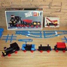 Juegos construcción - Lego: LEGO SYSTEM - GRAN LOTE DE TREN: LOCOMOTORA, GRUA, VIAS, CRUCES... - VARIAS REFERENCIAS. Lote 171987413