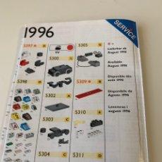 Juegos construcción - Lego: CATÁLOGO DE PIEZAS LEGO DE 1996 SERVICE. Lote 173654158