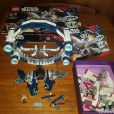 Juegos construcción - Lego: LEGO STAR WARS REF.7661 JEDI STARFIGHTER 2007 MAS REGALO MUCHAS PIEZAS X-WING STARFIGHTER. Lote 173753040