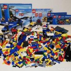 Juegos construcción - Lego: LOTE DE 2 KILOS EN PIEZAS LEGO Y VARIOS MANUALES 4439 31049 31023 60092 60011 60090. Lote 174041080