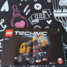 Juegos construcción - Lego: INSTRUCCIONES LEGO TECHNIC, CAMION CON PLATAFORMA ELEVADORA. REFERENCIA 42031.BRICK SET. Lote 174515452