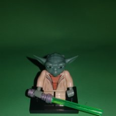 Juegos construcción - Lego: FIGURA DE STAR WARS YODA JEDI TIPO LEGO. Lote 175148118
