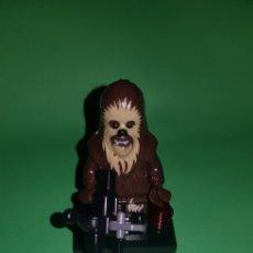 Juegos construcción - Lego: FIGURA STAR WARS CHEWAKA TIPO LEGO. Lote 175148393