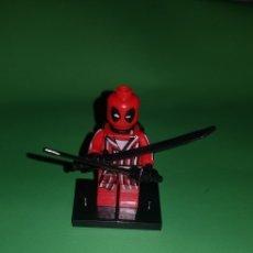Juegos construcción - Lego: FIGURA DEADPOOL TIPO LEGO. Lote 175148489