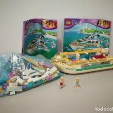 Juegos construcción - Lego: YATE BARCO RECREO LEGO FRIENDS INCOMPLETO . Lote 175685795