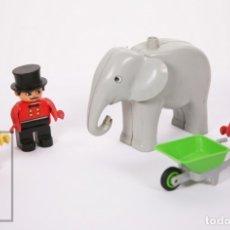Juegos construcción - Lego: JUGUETE DE CONSTRUCCIÓN LEGO DUPLO - PERSONAJES CIRCO / ELEFANTE, CUIDADOR, DOMADOR, PAYASO. Lote 178928346