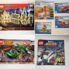 Juegos construcción - Lego: MANUALES LEGO - CITY 60004 -HARRY POTTER 4842 - MANUAL Nº2 -75091 STAR WARS - 6863 SUPER HEROES .. Lote 110827291