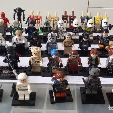 Juegos construcción - Lego: 44 MINI FIGURAS STAR WARS LEGO COMPATIBLE. Lote 179246168