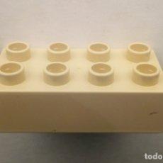 Juegos construcción - Lego: LEGO DUPLO - BLOQUES DE CONSTRUCCIÓN COLOR BEIGE - 8 CONECTORES. Lote 179315051