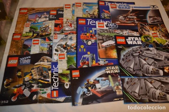 LEGO - LOTAZO MANUALES INSTRUCCIONES - STAR WARS, TECHNIC, HARRY POTTER, ETC ¡MIRA FOTOS Y DETALLES! (Juguetes - Construcción - Lego)