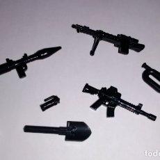 Juegos construcción - Lego: LOTE NUEVO - ACCESORIOS MILITARES Y ARMAS MODERNAS PARA MINIFIGURAS LEGO Y BRICKS CUSTOM COMPATIBLES. Lote 183030092