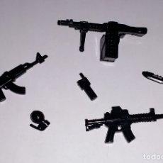 Juegos construcción - Lego: LOTE NUEVO - ACCESORIOS MILITARES Y ARMAS MODERNAS PARA MINIFIGURAS LEGO Y BRICKS CUSTOM COMPATIBLES. Lote 183030228