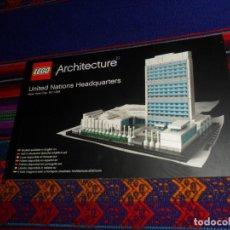 Juegos construcción - Lego: INSTRUCCIONES, LEGO ARCHITECTURE UNITED NATIONS HEADQUARTERS NEW YORK CITY USA. 2013. 116 PGNS. RARO. Lote 184762378
