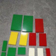 Juegos construcción - Lego: LOTE 20 PLACA BASE LEGO DIFERENTES TAMAÑOS NECESITA ALGUNA LIMPIEZA. Lote 184782702