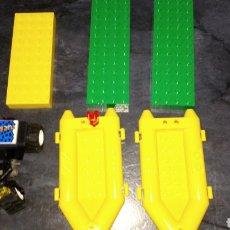 Juegos construcción - Lego: LOTE LEGO LORO DOS LANCHA ZODIAK UN QUARD Y 3 PLACAS DOS VERDES Y AMARILLA. Lote 184782891