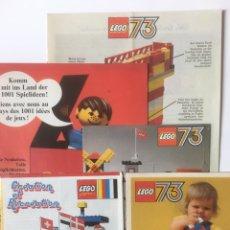 Juegos construcción - Lego: 5 FOLLETOS PUBLICITARIOS-CATALOGO ALEMANIA Y FRANCIA LEGO 1973-74. Lote 186049922