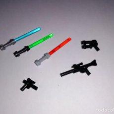 Juegos construcción - Lego: LOTE NUEVO - ARMAS DE STAR WARS PARA MINIFIGURAS LEGO Y BRICKS CUSTOM COMPATIBLES. Lote 187314545