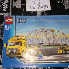 Juegos construcción - Lego: INSTRUCCIONES MANUAL MONTAJE LEGO CITY 7900 GRÚA CAMIÓN PUENTE. Lote 187503865
