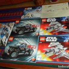 Juegos construcción - Lego: INSTRUCCIONES LEGO STAR WARS 8096 1 2 3 8089 TECHNIC 9395 1 2. REGALO DRAGONS UNIVERSE 95207. . Lote 187596505