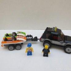 Juegos construcción - Lego: LEGO CITY - COCHE CON REMOLQUE Y MOTOS ACUÁTICAS - 60058. Lote 188425880
