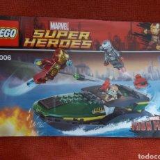Juegos construcción - Lego: LEGO MARVEL SUPER HÉROES 76006 MANUAL LANCHA. Lote 188764263