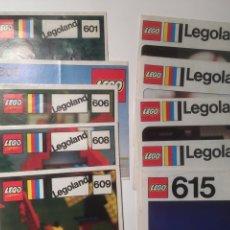 Juegos construcción - Lego: LOTE 10 FOLLETOS MONTAJE LEGO AÑOS 70. Lote 190086541