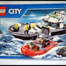 Juegos construcción - Lego: LEGO CITY # BARCO PATRULLA DE POLICIA 60129 # DEL AÑO 2016 - NUEVO Y PRECINTADO EN SU CAJA ORIGINAL.. Lote 191001318