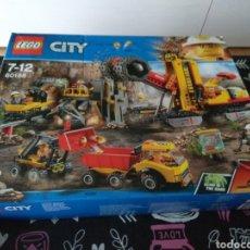 Juegos construcción - Lego: CAJA VACIA LEGO CITY 60188 MINING. MINA AREA DE EXPERTOS. Lote 191487868