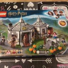 Juegos construcción - Lego: CAJA VACIA LEGO HARRY POTTER 75497 HAGRID'S HUT : BUCKBEAK'S RESCUE. CABAÑA DE HAGRID. Lote 191515602