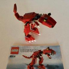 Juegos construcción - Lego: LEGO CREATOR 6914 DINOSAURIO CON MANUAL DE CONSTRUCCION. Lote 192899592