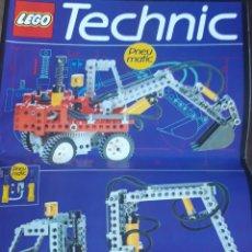 Juegos construcción - Lego: CATÁLOGO O MANUAL DE INSTRUCCIONES LEGO TECHNIC 8837 GRUA Y/O EXCAVADORA PNEUMATIC. AÑOS 90. Lote 193796585